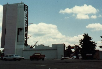 Damage from outside of the Drive-In